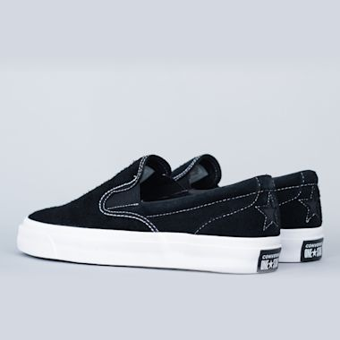Second view of Converse One Star CC Slip Shoes Black / Black / White