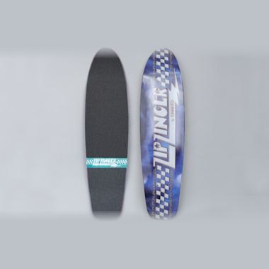 Krooked 7.75 Jacket Klub Zip Zinger Skateboard Deck Blue