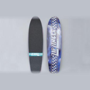 Krooked 7.75 Jacket Klub Zip Zinger Skateboard Deck Blue