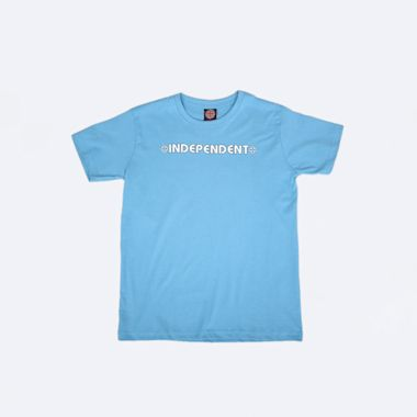 Independent Bar Cross Youth T-Shirt Carolina Blue