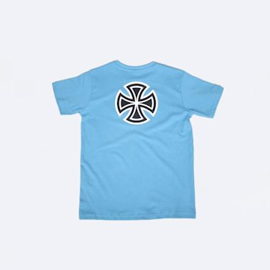 Second view of Independent Bar Cross Youth T-Shirt Carolina Blue