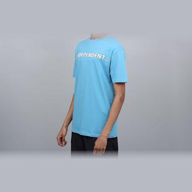 Second view of Independent Bar Cross T-Shirt Carolina Blue