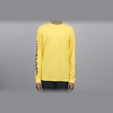Independent Bar Cross Longsleeve T-Shirt Yellow