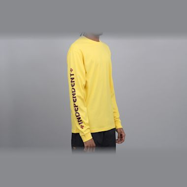 Second view of Independent Bar Cross Longsleeve T-Shirt Yellow