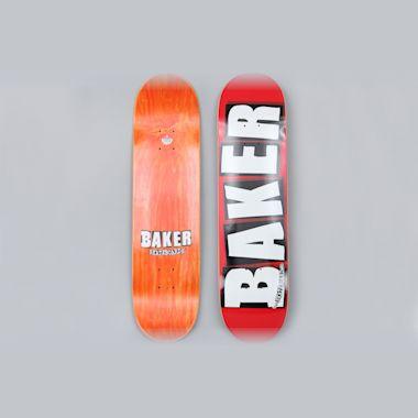 Baker 8 Brand Logo Skateboard Deck Red / White