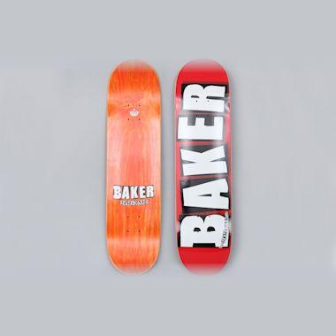 Baker 8.475 Brand Logo Skateboard Deck Red / White