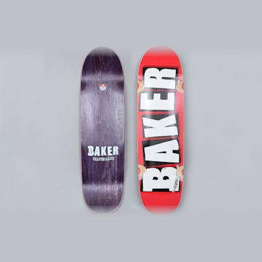 Baker 8.5 Brand Logo Skateboard Cruiser Deck Red / White