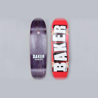 Baker 8.5 Brand Logo Skateboard Cruiser Deck Red / White