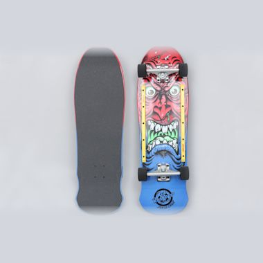 Santa Cruz 9.5 Roskopp Face 80's Complete Skateboard Red / Blue