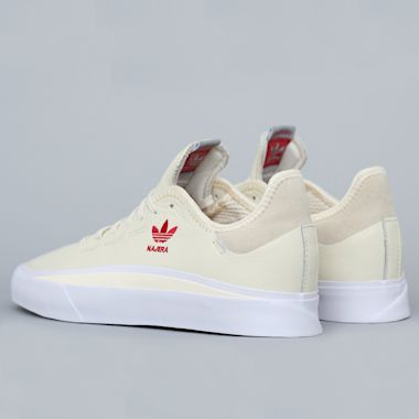 Second view of adidas Sabalo Najera Shoes Cream White / Footwear White / Power Red