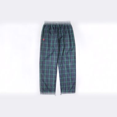 Bronze Plaid Track Pants Navy / Green