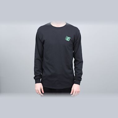Second view of Bronze B Logo Longsleeve T-Shirt Black / Binary Code