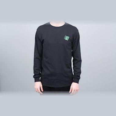 Second view of Bronze B Logo Longsleeve T-Shirt Black / Binary Code