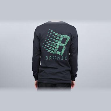 Bronze B Logo Longsleeve T-Shirt Black / Binary Code
