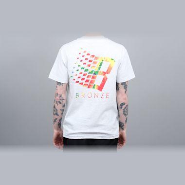 Bronze B Logo T-Shirt Ash / Infrared