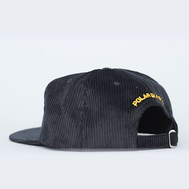 Second view of Polar Cord 5 Panel Cap Black