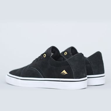 Second view of Emerica Provider Shoes Black / White / Gold