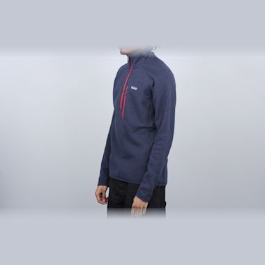 Second view of Patagonia Performance Better Sweater 1/4 Zip Navy Blue