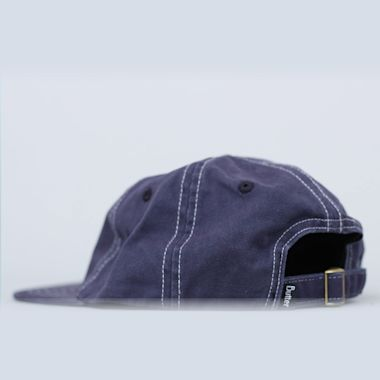 Second view of Butter Goods Stitch 6 Panel Cap Navy