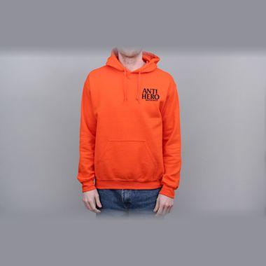 Anti Hero Lil Blackhero Embroidered Hood Orange / Black