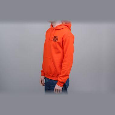 Second view of Anti Hero Lil Blackhero Embroidered Hood Orange / Black