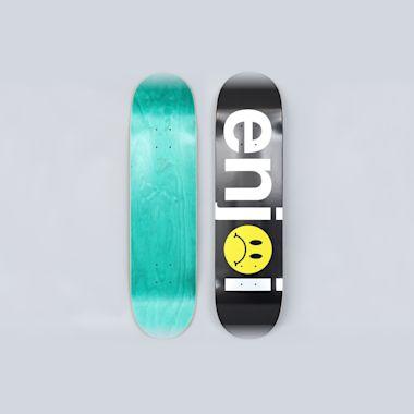 Enjoi 8 Frowny Face No Brainer Skateboard Deck Black / Silver