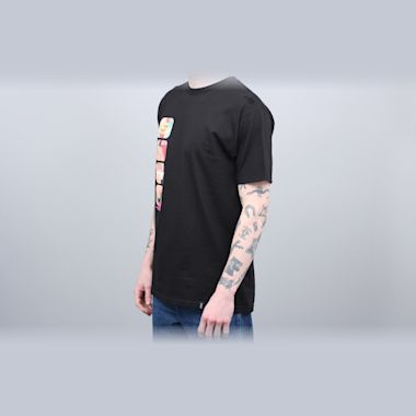Second view of HUF Channel J T-Shirt Black