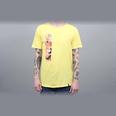 HUF Channel J T-Shirt Aurora Yellow