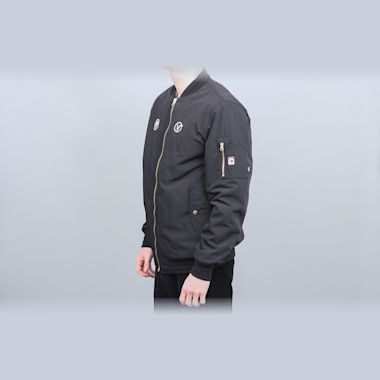 Second view of Vans X Passport Bomber Jacket Black