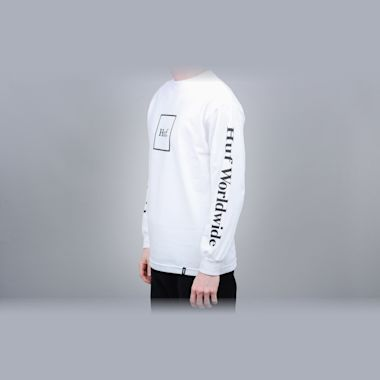 Second view of HUF Domestic Longsleeve T-Shirt White