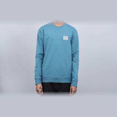 Patagonia Shop Sticker Patch Uprisal Crew Sweatshirt Tasmanian Teal