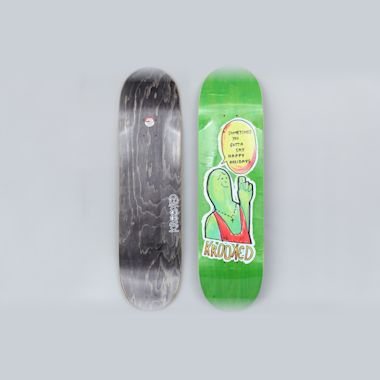 Krooked 8.38 Sometimes Holiday Skateboard Deck Green