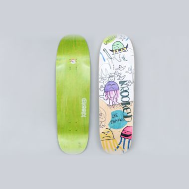 Krooked 9.25 Drehobl Smokey Skateboard Deck Multi