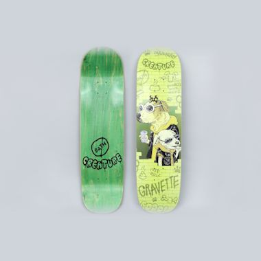 Creature 8.59 Gravette Bad Dawgs Skateboard Deck Green