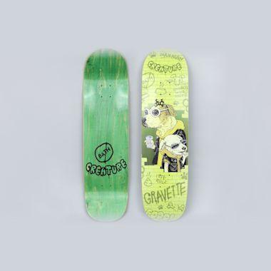 Creature 8.59 Gravette Bad Dawgs Skateboard Deck Green