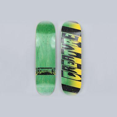 Creature 8.6 Team Stripes MD Skateboard Deck Black / Green