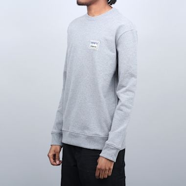 Second view of Patagonia Shop Sticker Patch Uprisal Crew Sweatshirt Gravel Heather