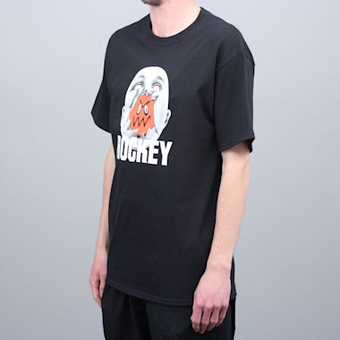 Second view of Hockey Broken Face T-Shirt Black