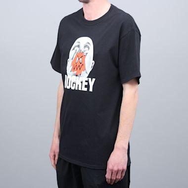 Second view of Hockey Broken Face T-Shirt Black