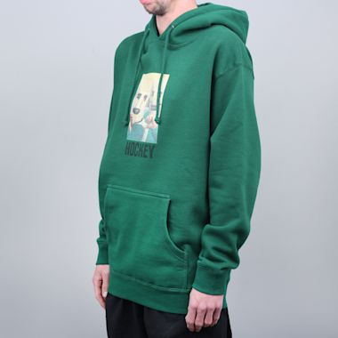 Second view of Hockey Baghead Hood Dark Green