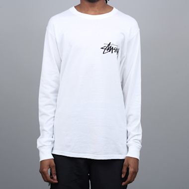 Stussy Stock Longsleeve T-Shirt White