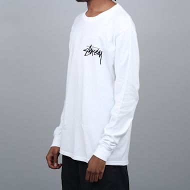 Second view of Stussy Stock Longsleeve T-Shirt White