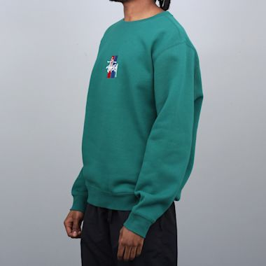 Second view of Stussy 2 Bar Stock App Crew Green