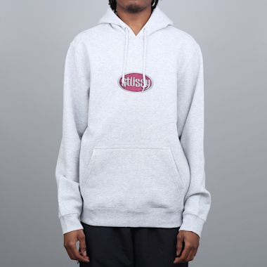 Stussy Oval App Hood Ash Heather