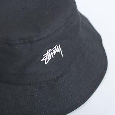4d8a489eb3d Stussy Stock Bucket Hat Black Second view of Stussy Stock Bucket Hat Black