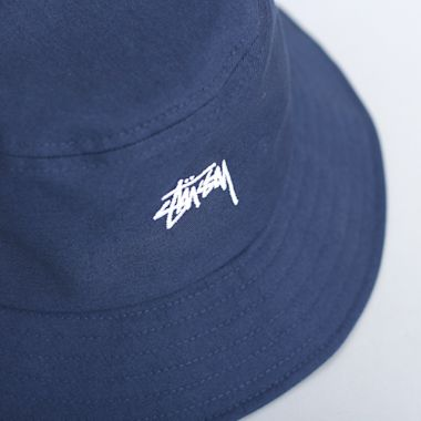 Second view of Stussy Stock Bucket Hat Navy