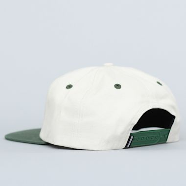Second view of Dial Tone Dial Strapback Cap Cream / Forrest