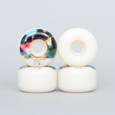 Dial Tone 53mm 99A Jahmal Williams Abstract 2 Round Cut Wheels White