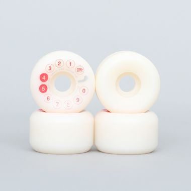 Dial Tone 54mm 99A Rotary Digital Conical Wheels White