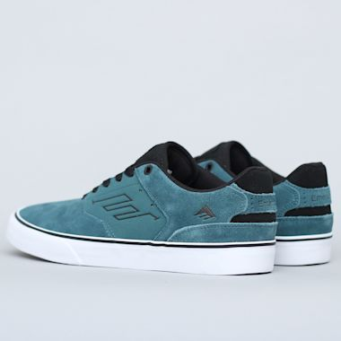 Second view of Emerica The Reynolds Low Vulc Shoes Teal / Black
